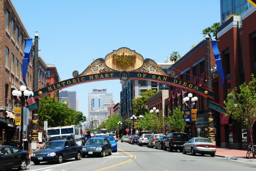 Gaslamp District in downtown San Diego