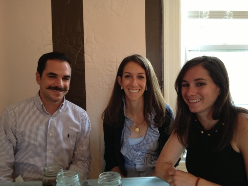 Celebratory brunch! (Complete with my brother's handlebar mustache from his trip to the Kentucky Derby)