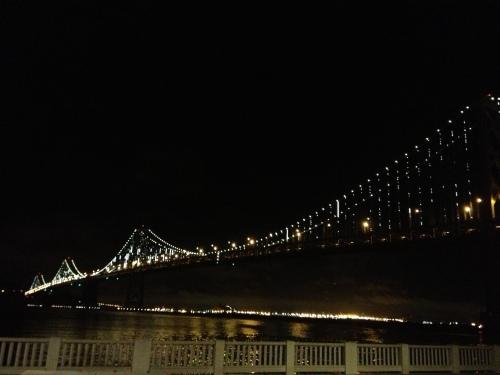 Bay Bridge, all lit up.