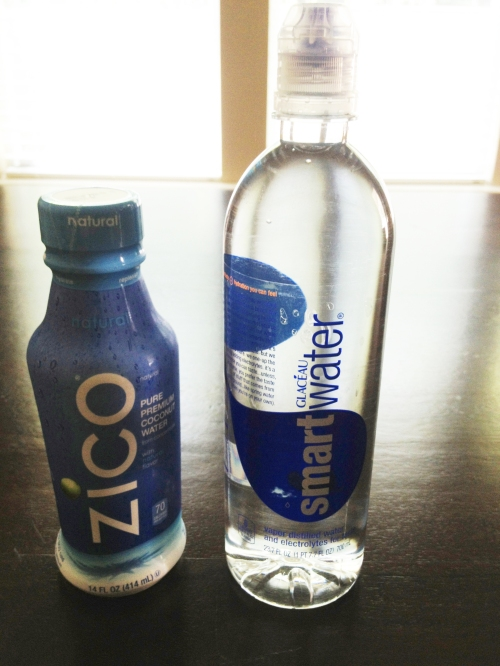 My two favorite choices for staying hydrated.